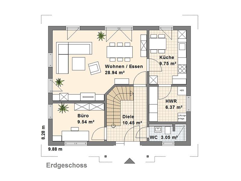 Grömitz Grundriss Erdgeschoss