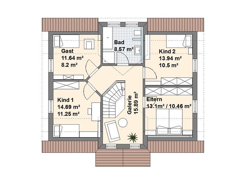 Schwedenhaus L Dachgeschoss