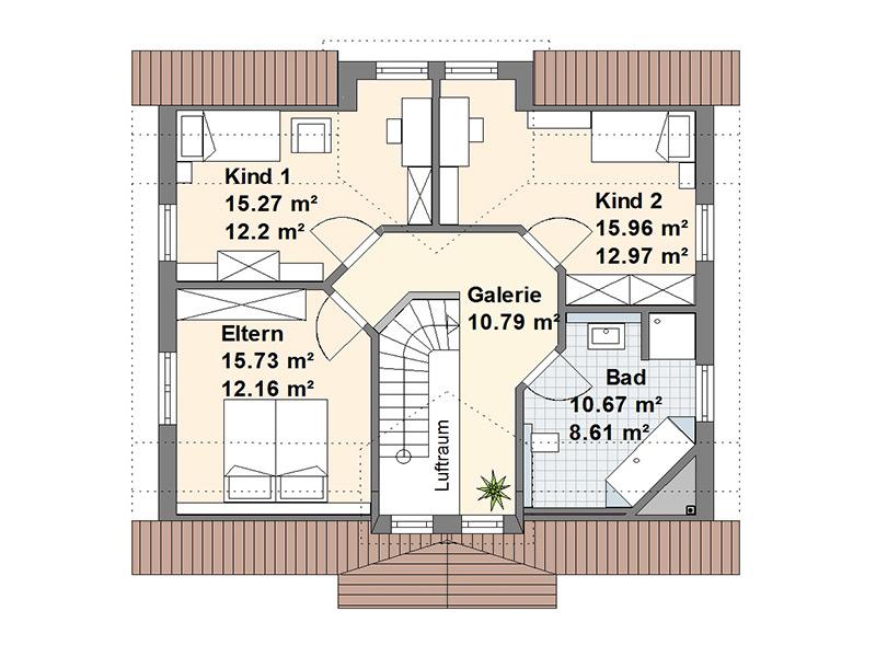 Schwedenhaus M Dachgeschoss