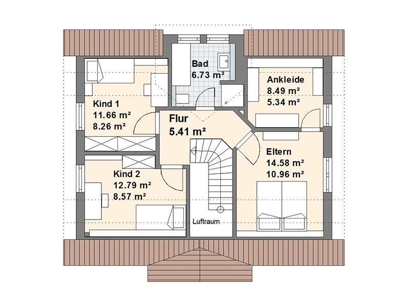 Schwedenhaus S Dachgeschoss